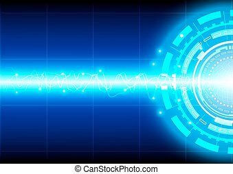 vector background abstract technology with wave communication concept