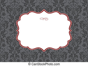 Vector Background and Ornate Frame