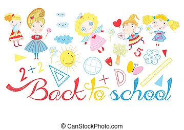 Vector background back to school
