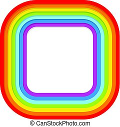 vector background border of abstract rainbow symbo