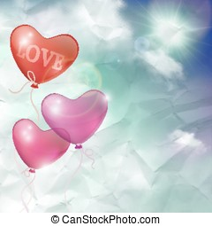 Vector background, card or banner balloons