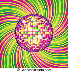 Vector background - CD Cover design with disco-ball