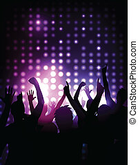 Vector background - cheering crowd at a concert