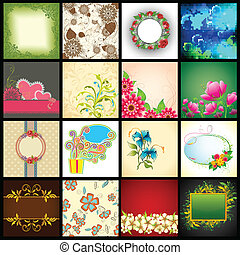 Vector Background Collection - illustration of collection of...
