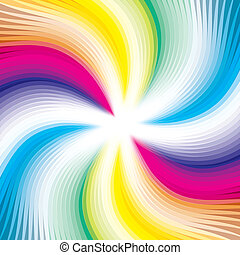 Vector background colorful lines - Abstract digital...