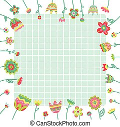 Vector background, doodle flowers