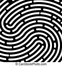 Vector background fingerprint