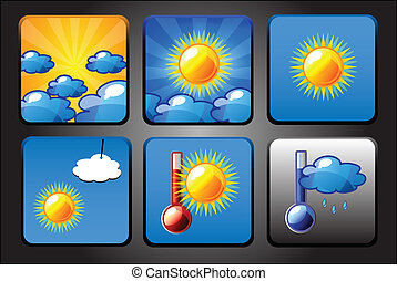 Vector background for app icons - weather set