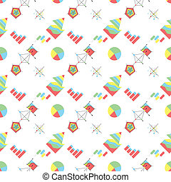 Vector background for economic. Charts