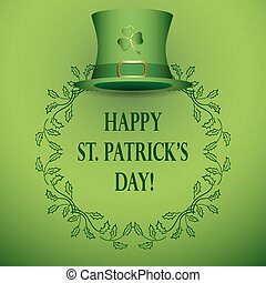 vector background for st patrick's day - with green hat