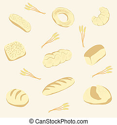 Vector background from bread