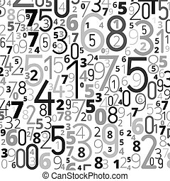 Vector background from numbers - Vector gray black colored ...