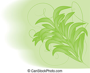 Vector background green foliage