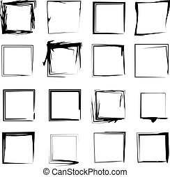 Vector Background Grunge Frames - A set of 16 original...