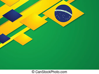 Vector background in Brazilian colors