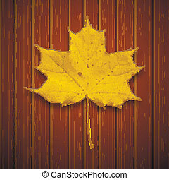 Vector background. Leaf. Autumn.