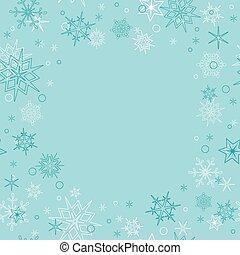 light blue christmas card with snow