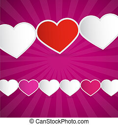 Vector Background Made from Paper Hearts
