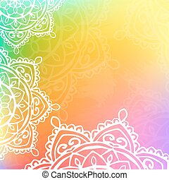 background mandala rainbow color - vector background mandala...