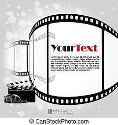 vector background movie, film strip