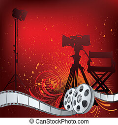 movie theme illustration - vector background movie theme ...