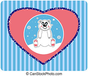 Vector background of a cute polar b
