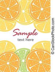 Vector background of an orange