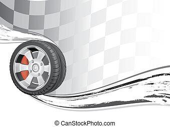 automobile race - vector background of automobile race