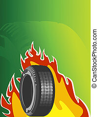 Vector background of car design