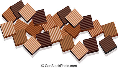 vector background of chocolate bars