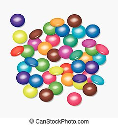 vector background of colorful candies