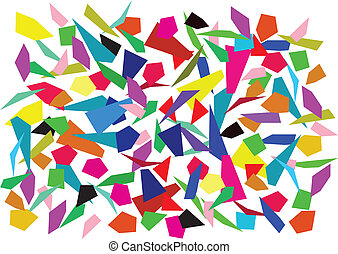 vector background of colorful splinters