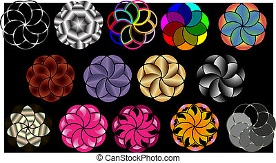 Vector background of concentric circles.