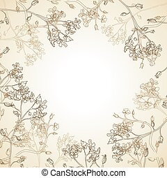 Vector background of flowers - Vector Frame of wild flowers...