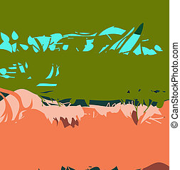 Vector background of green and orange.