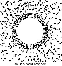 vector background of music notes