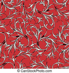 Vector background of the decorative plants