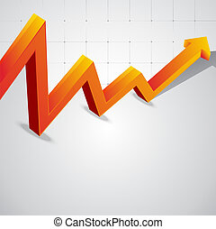 Vector background of the economic curve graph for text