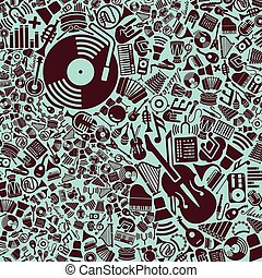vector background of the music icons