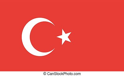 vector background of turkey flag