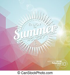 Vector background on a summer holiday theme.