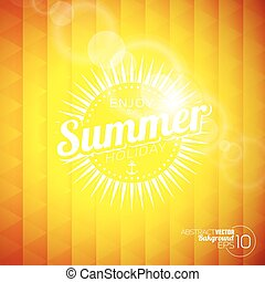 Vector background on a summer holiday theme