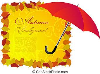background on a theme of autumn