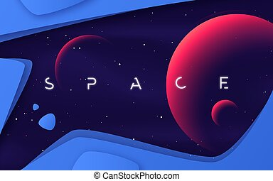 Vector background on the theme of outer space