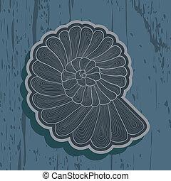 Vector background pattern of stylized snail
