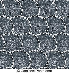 Vector background seamless pattern of stylized snail