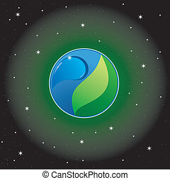 vector background the Earth