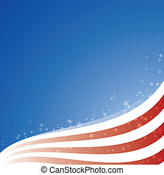 Vector background USA flag with light and stars, Zip includes 300 dpi JPG, Illustrator CS, EPS10. Vector with transparency.