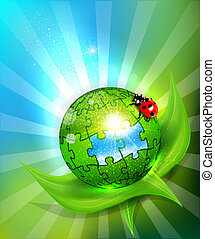 vector background with a ball