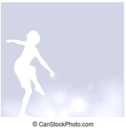 Vector background with a dancer
